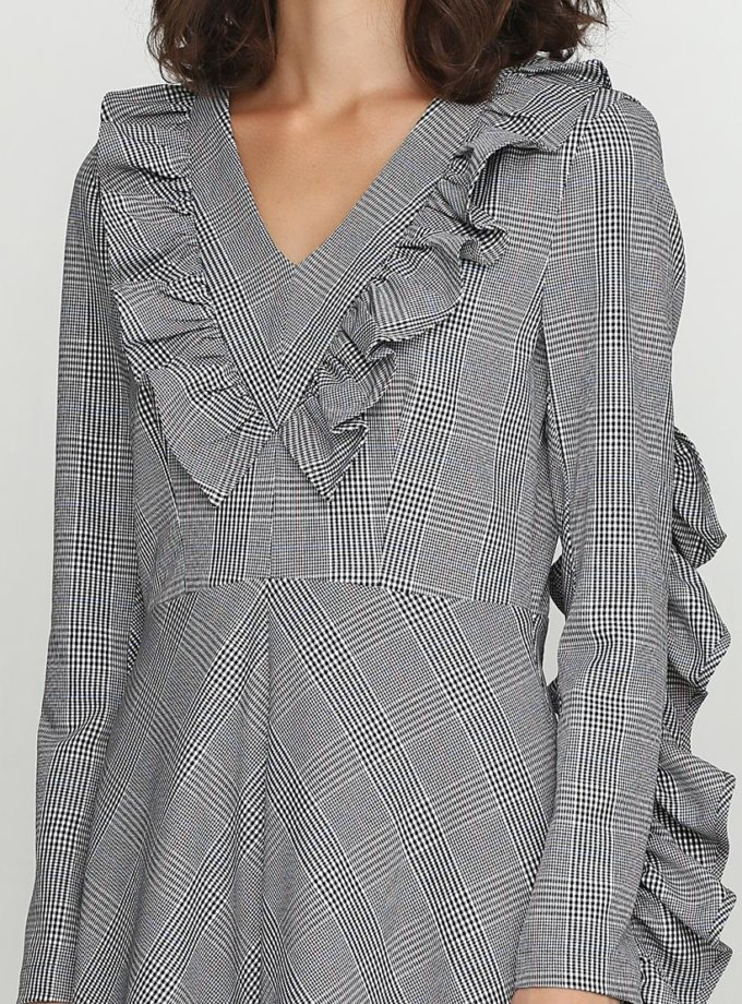 Платье силуэта трапеция из шерсти AY_2441, фото 1 - в интеренет магазине KAPSULA