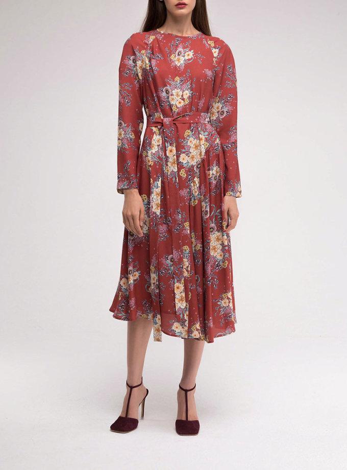 Платье с асимметричной юбкой в принт SHKO_18038004_outlet, фото 1 - в интернет магазине KAPSULA