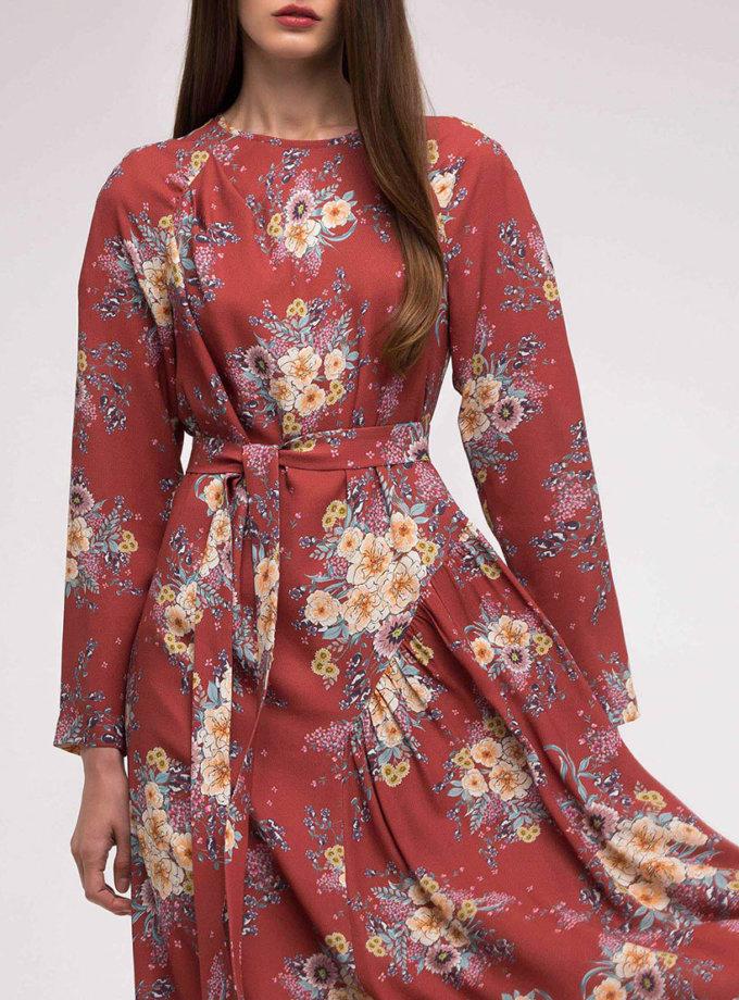 Платье с асимметричной юбкой в принт SHKO_18038004_outlet, фото 1 - в интеренет магазине KAPSULA
