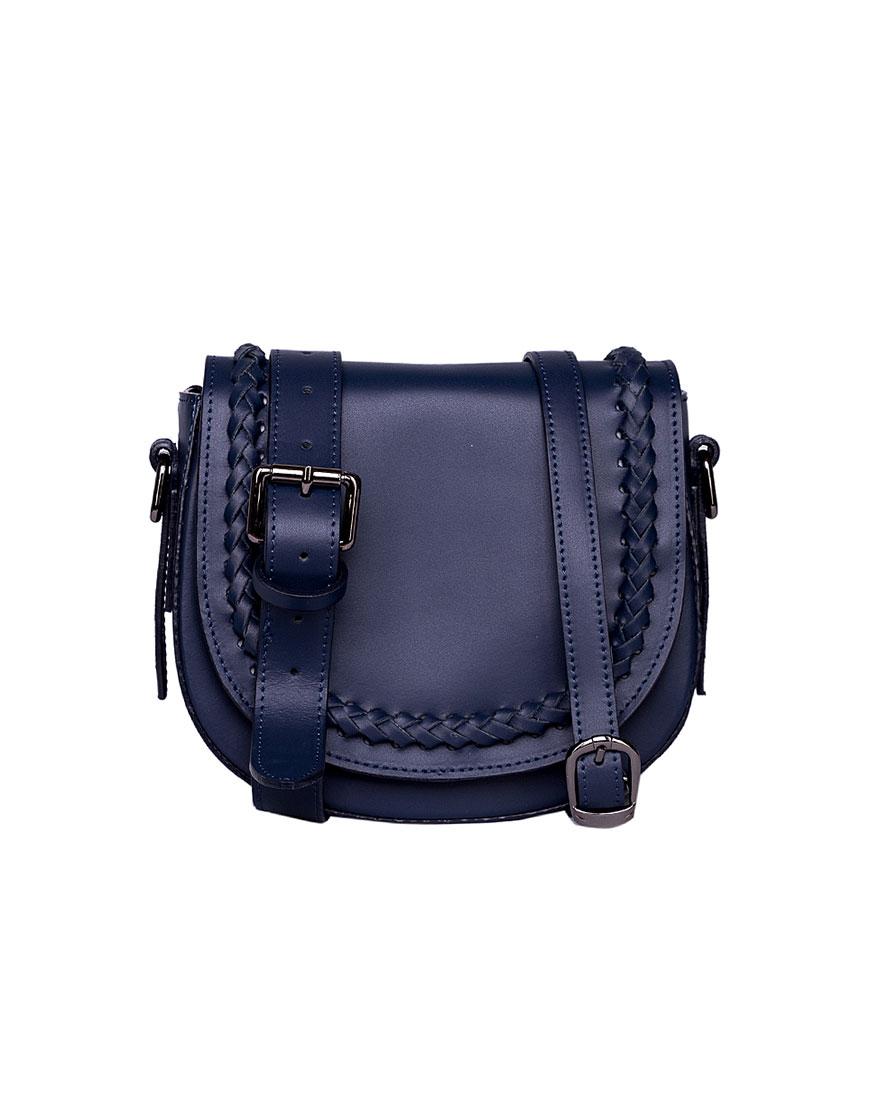 Кожаная сумка на пояс и плечо Blue