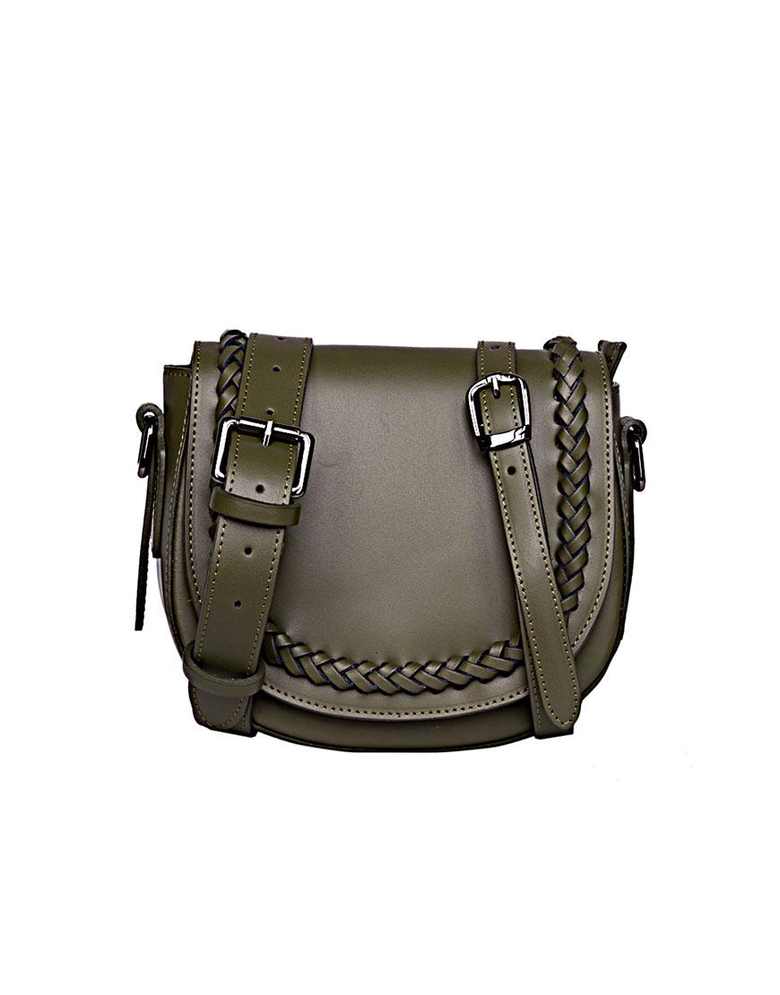 Кожаная сумка на пояс и плечо Olive