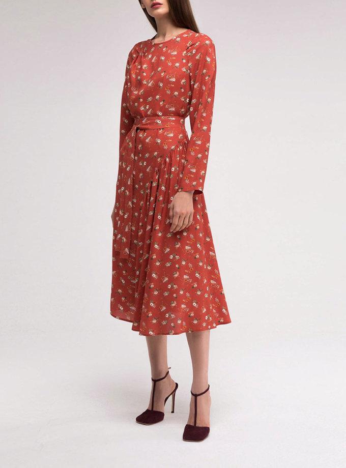 Платье с асимметричной юбкой на подкладе SHKO_18038005_outlet, фото 1 - в интернет магазине KAPSULA