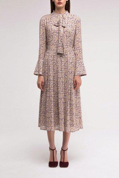 Платье с расклёшенным манжетом SHKO_18055001, фото 1 - в интеренет магазине KAPSULA