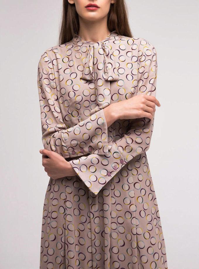Платье с расклёшенным манжетом SHKO_18055001, фото 1 - в интернет магазине KAPSULA