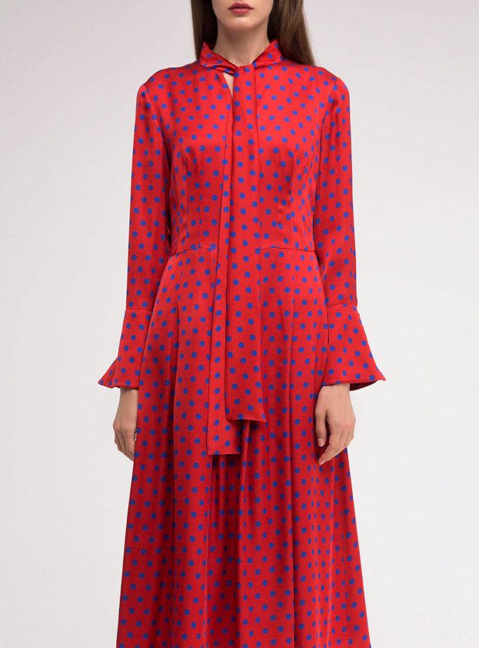 Платье с расклёшенным манжетом SHKO_18055002_outlet, фото 1 - в интеренет магазине KAPSULA