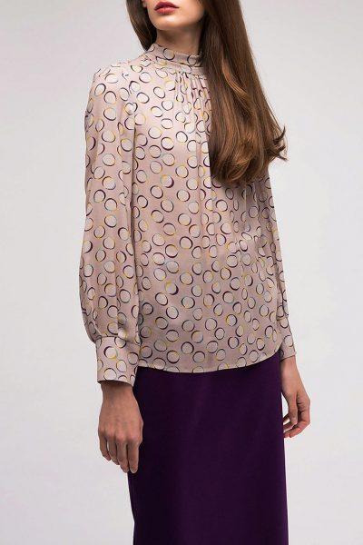 Блуза прямого кроя с воротником-стойкой SHKO_18051002, фото 1 - в интеренет магазине KAPSULA