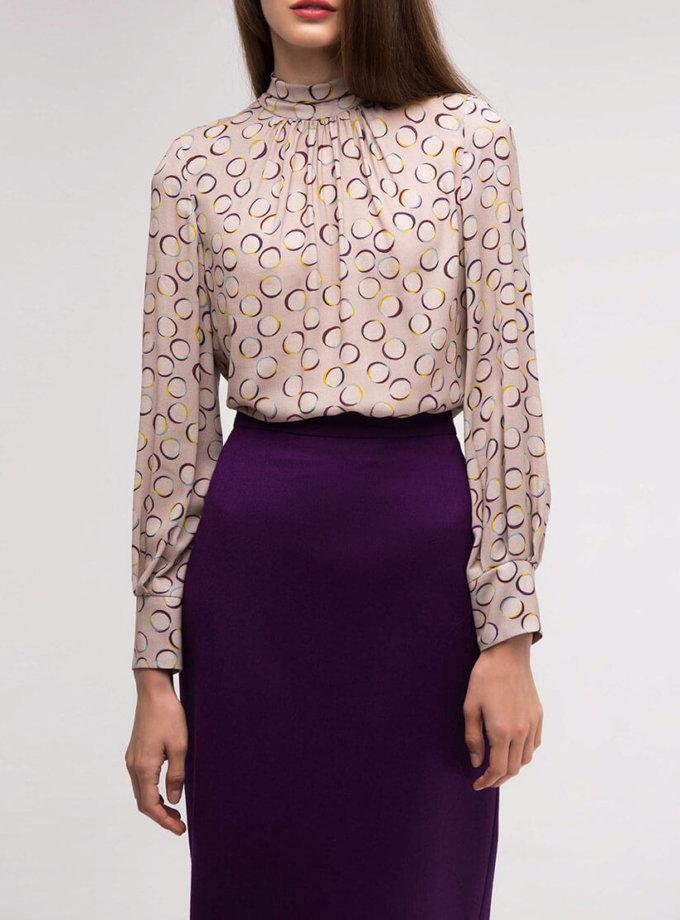 Блуза прямого кроя с воротником-стойкой SHKO_18051002, фото 1 - в интернет магазине KAPSULA
