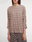 Платье с асимметричной юбкой горчичное SHKO_18038003, фото 5 - в интеренет магазине KAPSULA