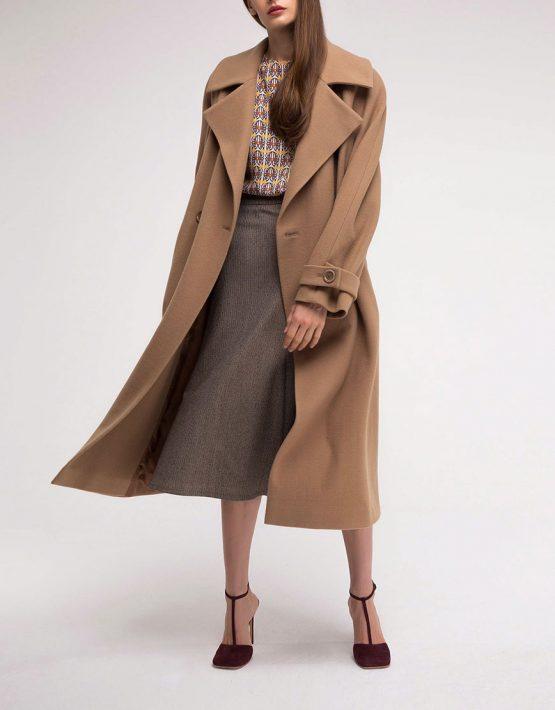 Пальто двубортное из шерсти SHKO_18049003, фото 5 - в интеренет магазине KAPSULA
