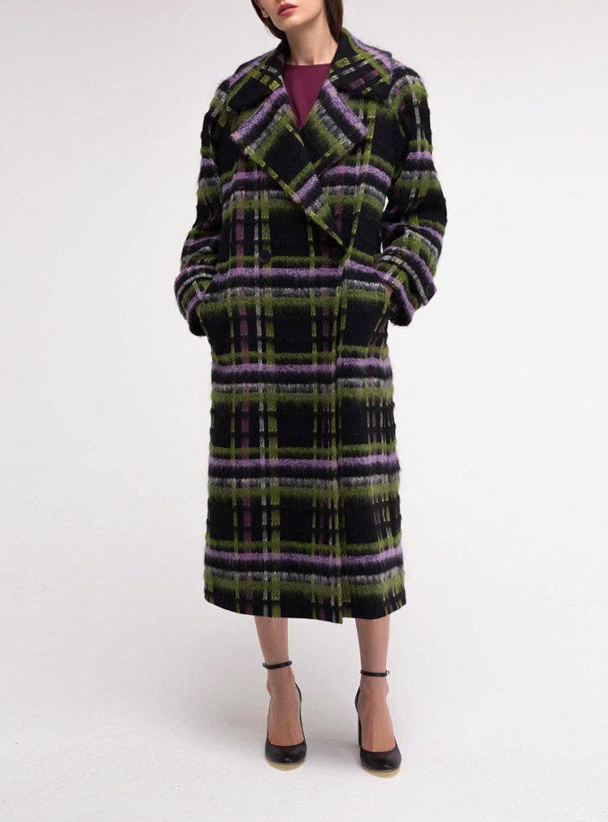 Двубортное шерстяное пальто в яркую клетку SHKO_18049002, фото 1 - в интеренет магазине KAPSULA