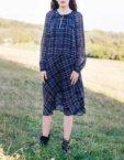 Хлопковая блуза с затяжками на горловине CYAN_TP_K02, фото 7 - в интеренет магазине KAPSULA