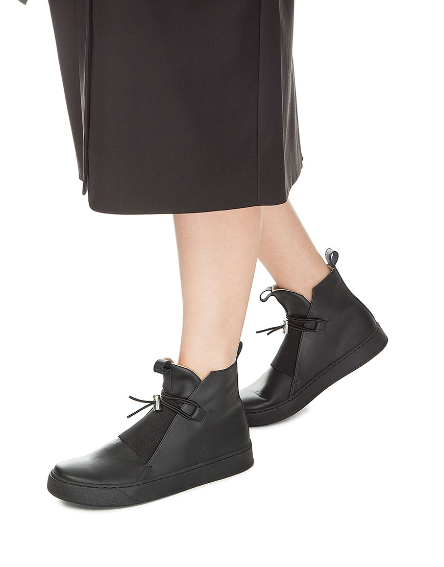 Ботинки из кожи с фиксатором