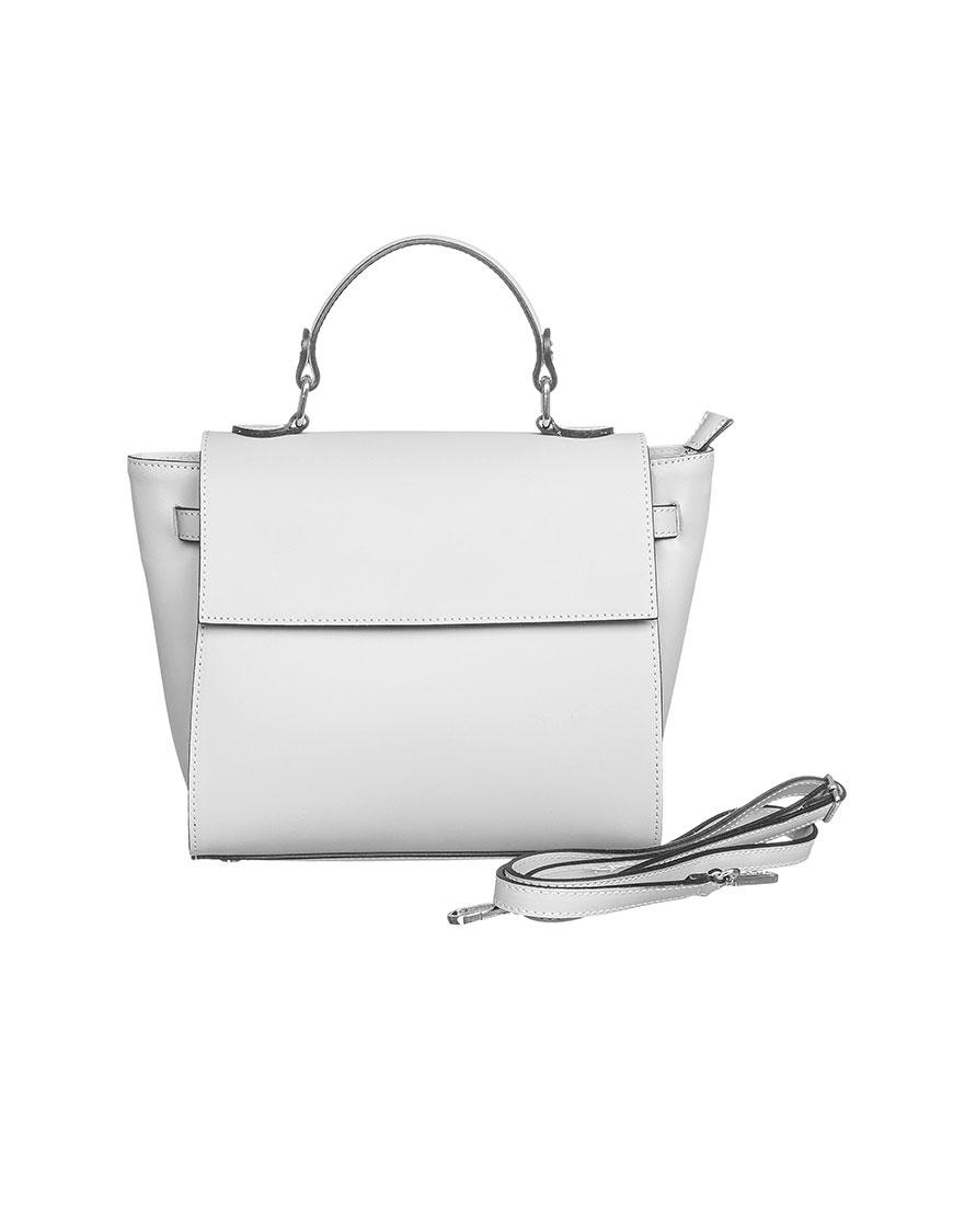 Кожаная сумка со съемным ремнем