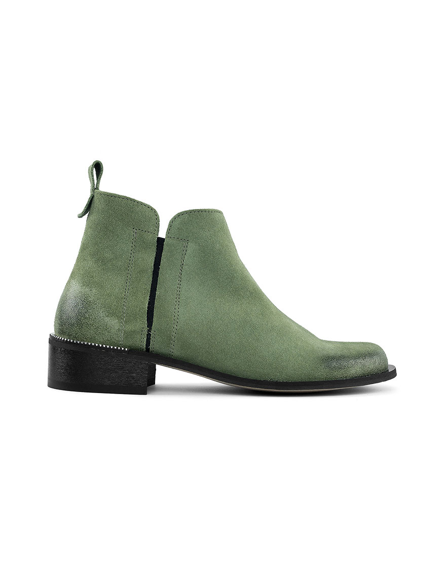 Ботинки с потертостью Cozy Pistache