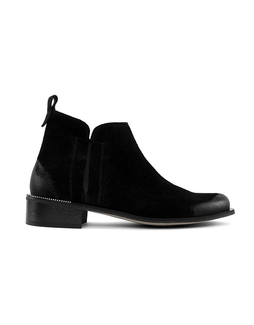 Ботинки с потертостью Cozy Black