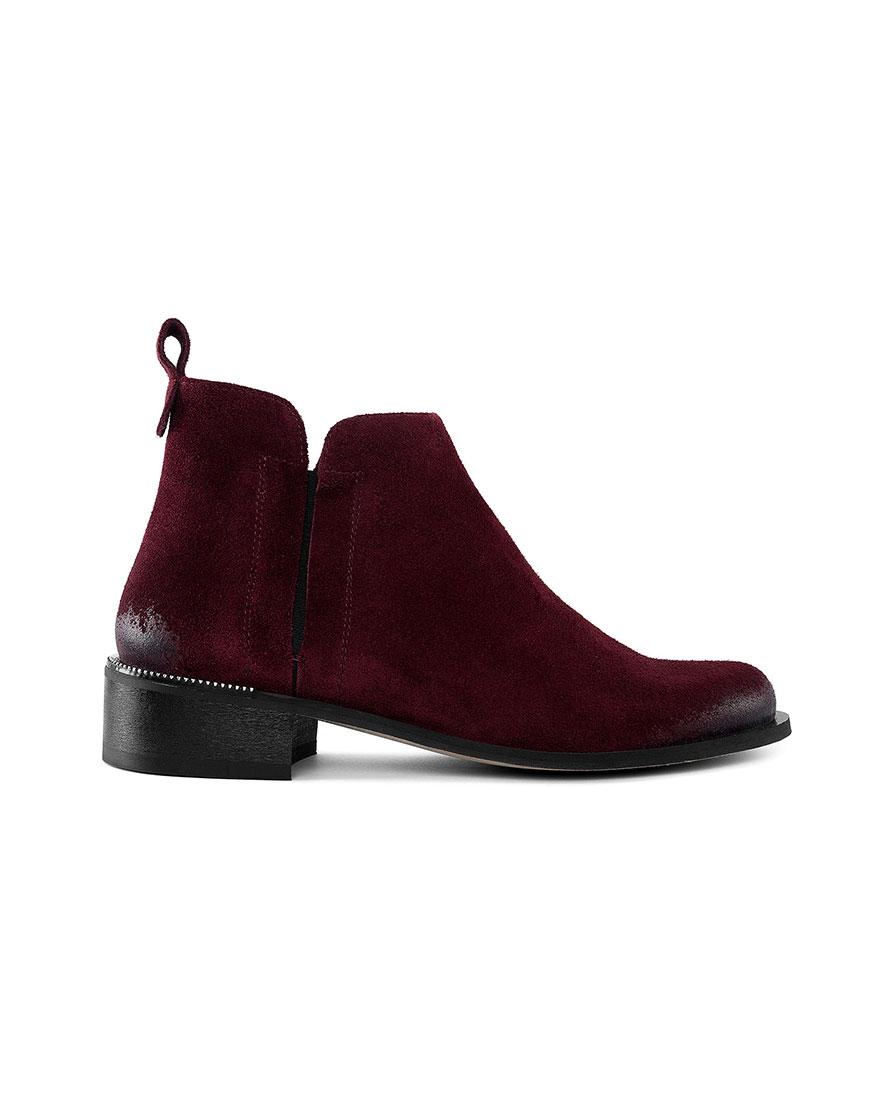 Ботинки с потертостью Cozy Bordeaux