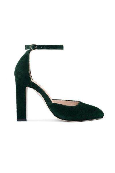 Замшевые туфли Mary Jane Dark Green MRSL_993263, фото 4 - в интеренет магазине KAPSULA
