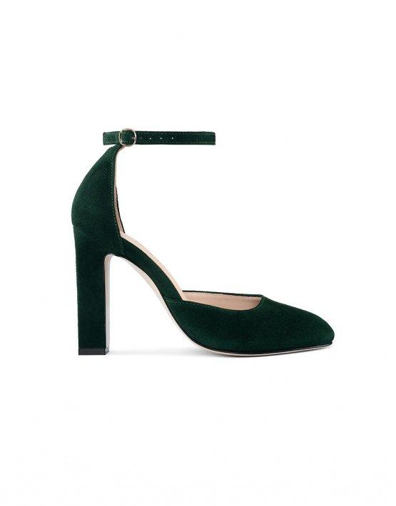 Замшевые туфли Mary Jane Dark Green MRSL_993263, фото 1 - в интеренет магазине KAPSULA
