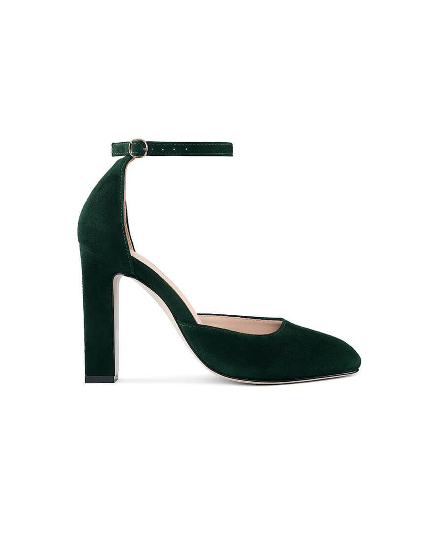 Замшевые туфли Mary Jane Dark Green
