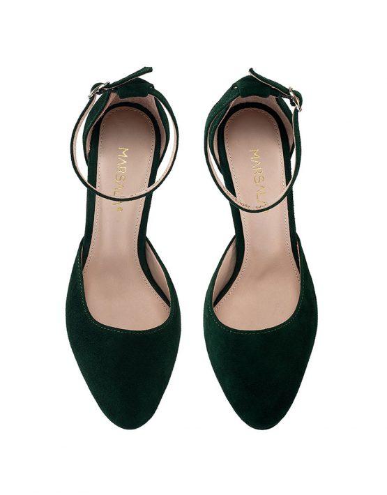 Замшевые туфли Mary Jane Dark Green MRSL_993263, фото 2 - в интеренет магазине KAPSULA