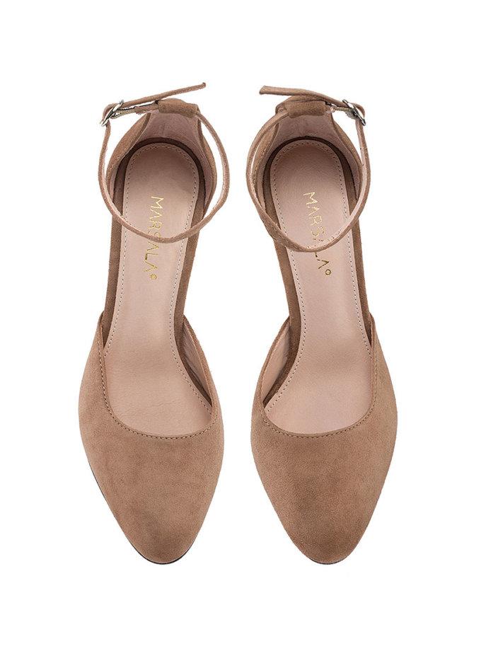 Замшевые туфли Mary Jane Cappuccino MRSL_993283, фото 1 - в интеренет магазине KAPSULA
