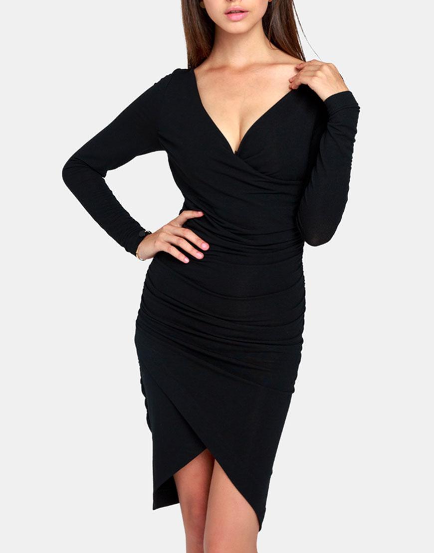 Купить Трикотажное платье со сборками