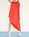 Платье с асимметричным вырезом JG_2007_195, фото 4 - в интеренет магазине KAPSULA