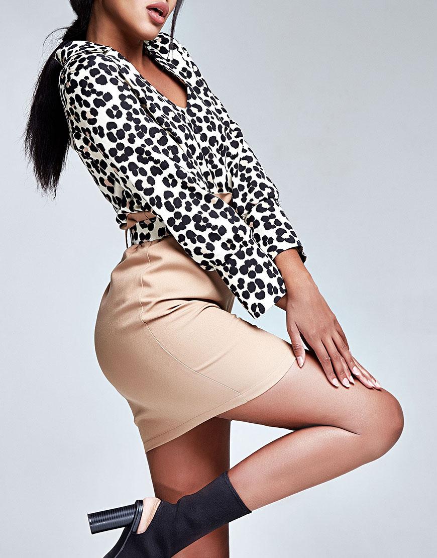 Купить Блуза в леопардовый принт