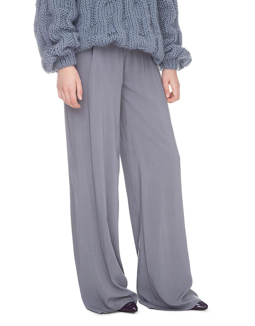 Широкие брюки на высокой посадке