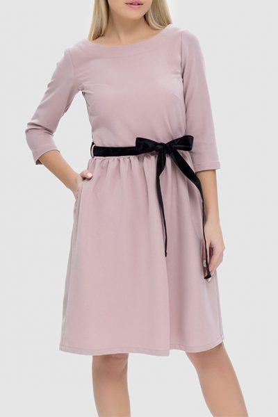 Платье с пуговицами на спинке и съемным поясом MRND_М40-1, фото 1 - в интеренет магазине KAPSULA