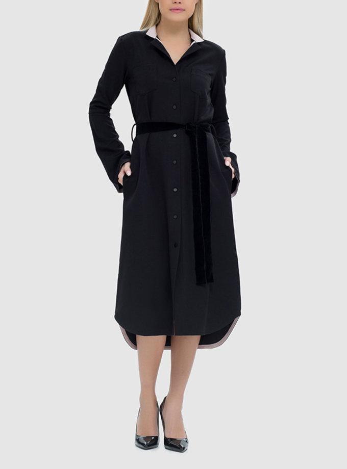 Платье-рубашка с накладными карманами MRND_М41-2, фото 1 - в интернет магазине KAPSULA