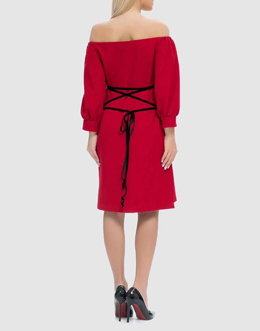 Платье со шнуровкой на спине MRND_М42-2, фото 1 - в интернет магазине KAPSULA