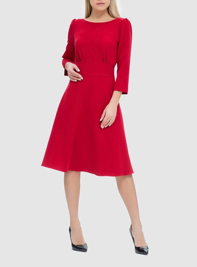 Платье с разрезом на спине и бархатной завязкой MRND_М44-2, фото 1 - в интернет магазине KAPSULA