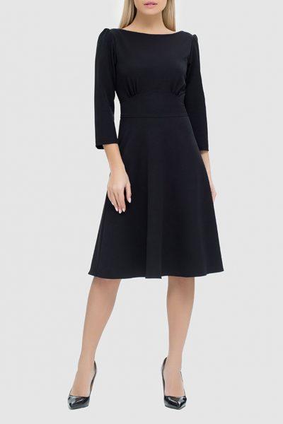 Платье с разрезом на спине и бархатной завязкой MRND_М44-5, фото 1 - в интеренет магазине KAPSULA