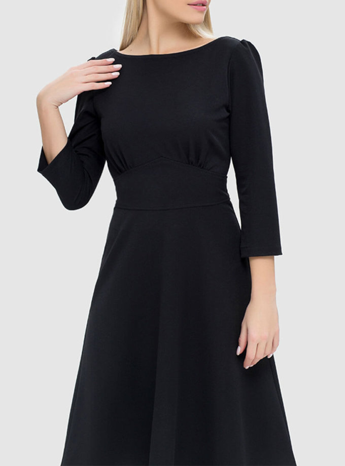 Платье с разрезом на спине и бархатной завязкой MRND_М44-5, фото 1 - в интернет магазине KAPSULA