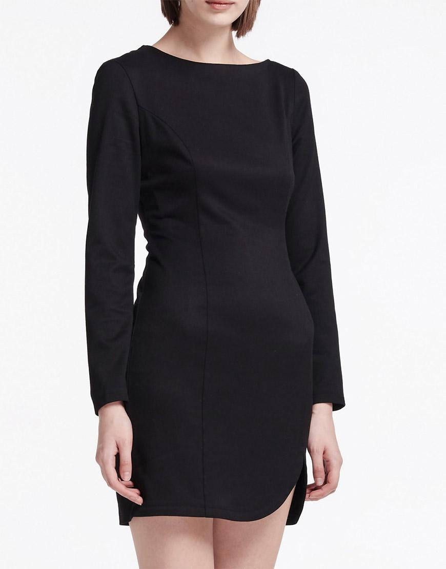 Платье мини с асимметричным вырезом