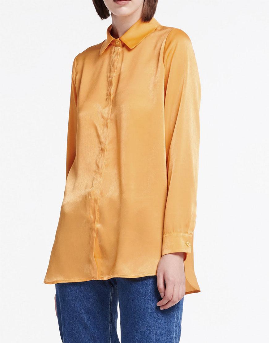 Рубашка с потайной планкой