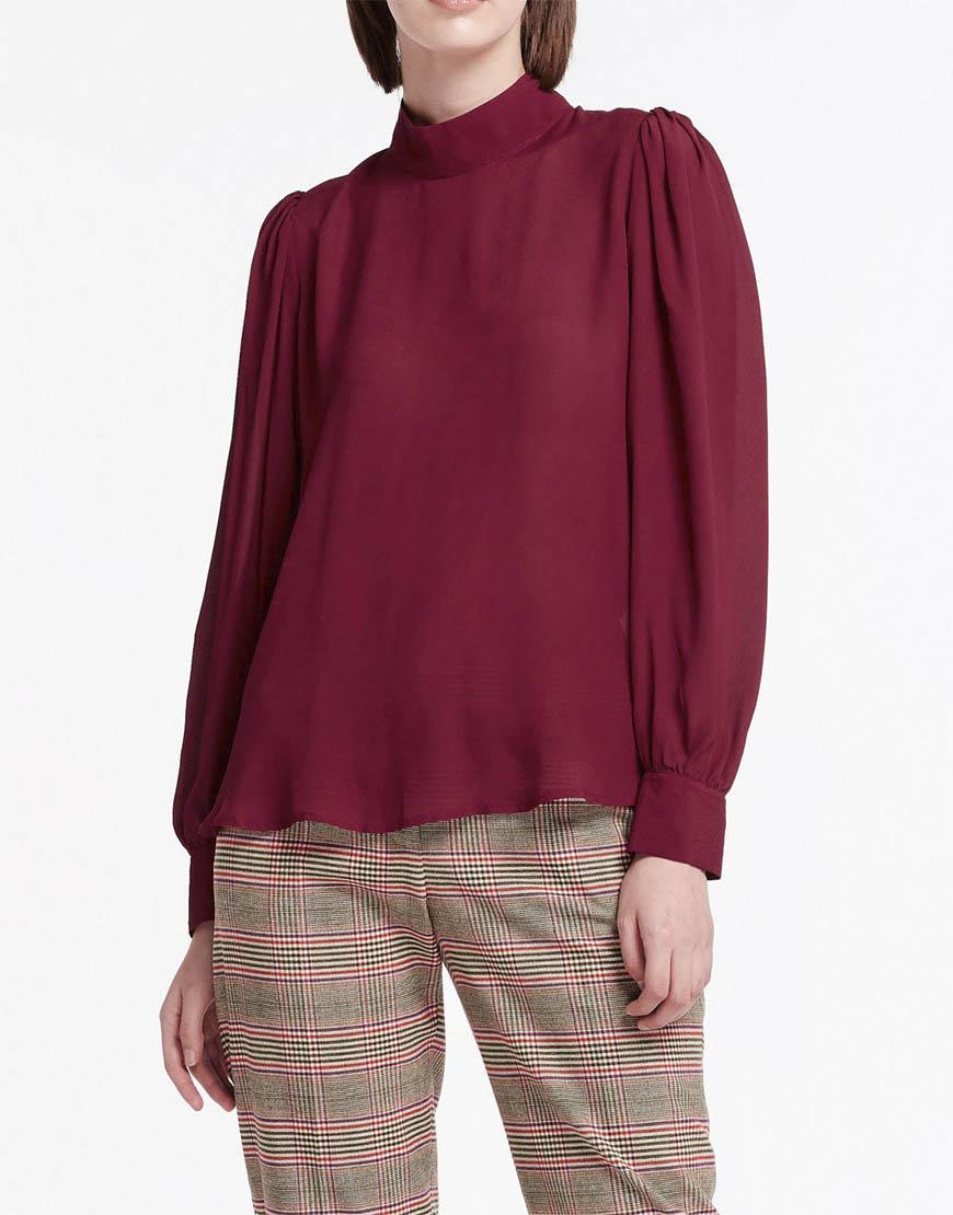 Купить Блуза с воротником стойка
