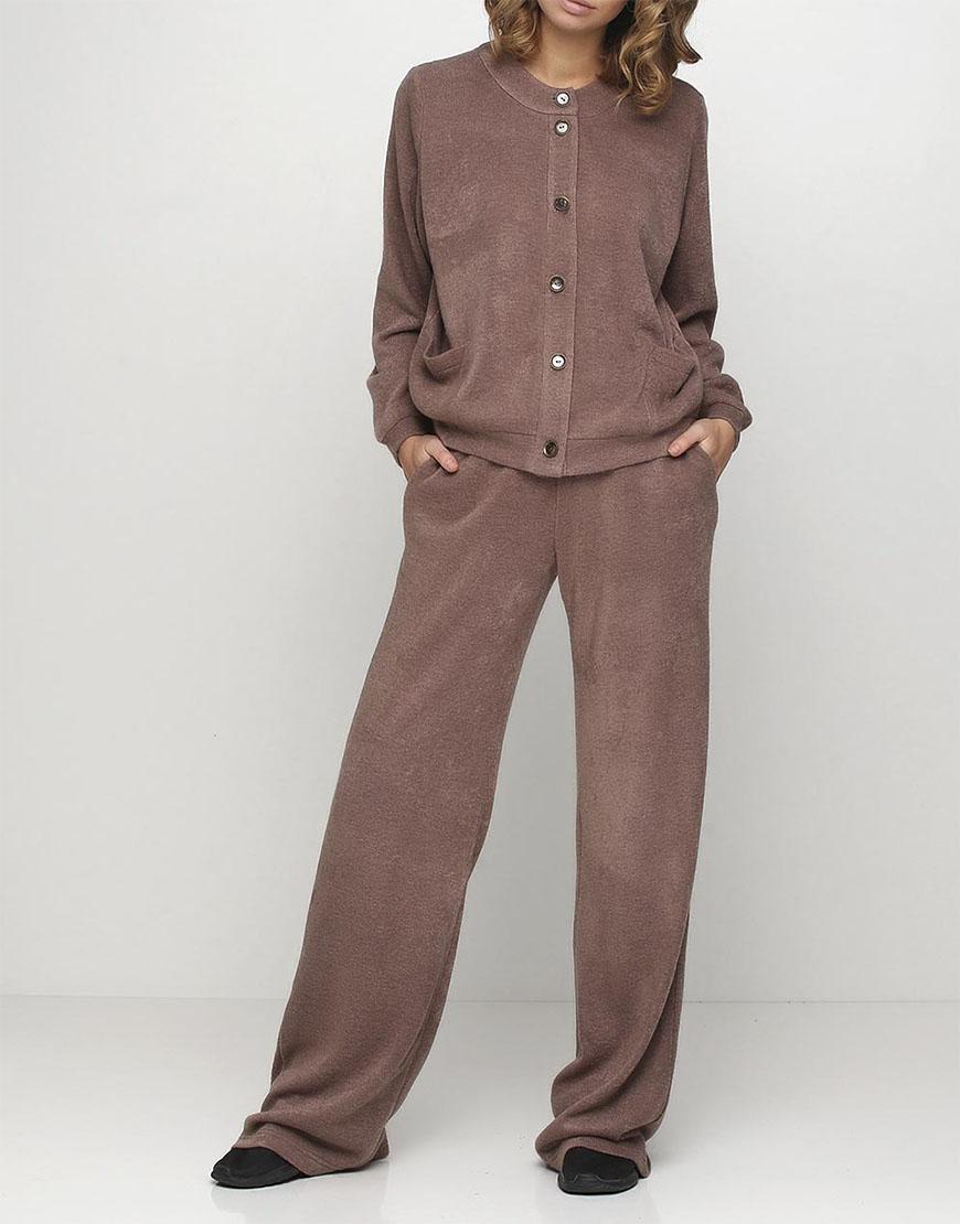 Широкие брюки на резинке