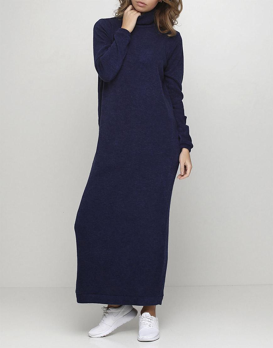 Трикотажное платье из шерсти макси