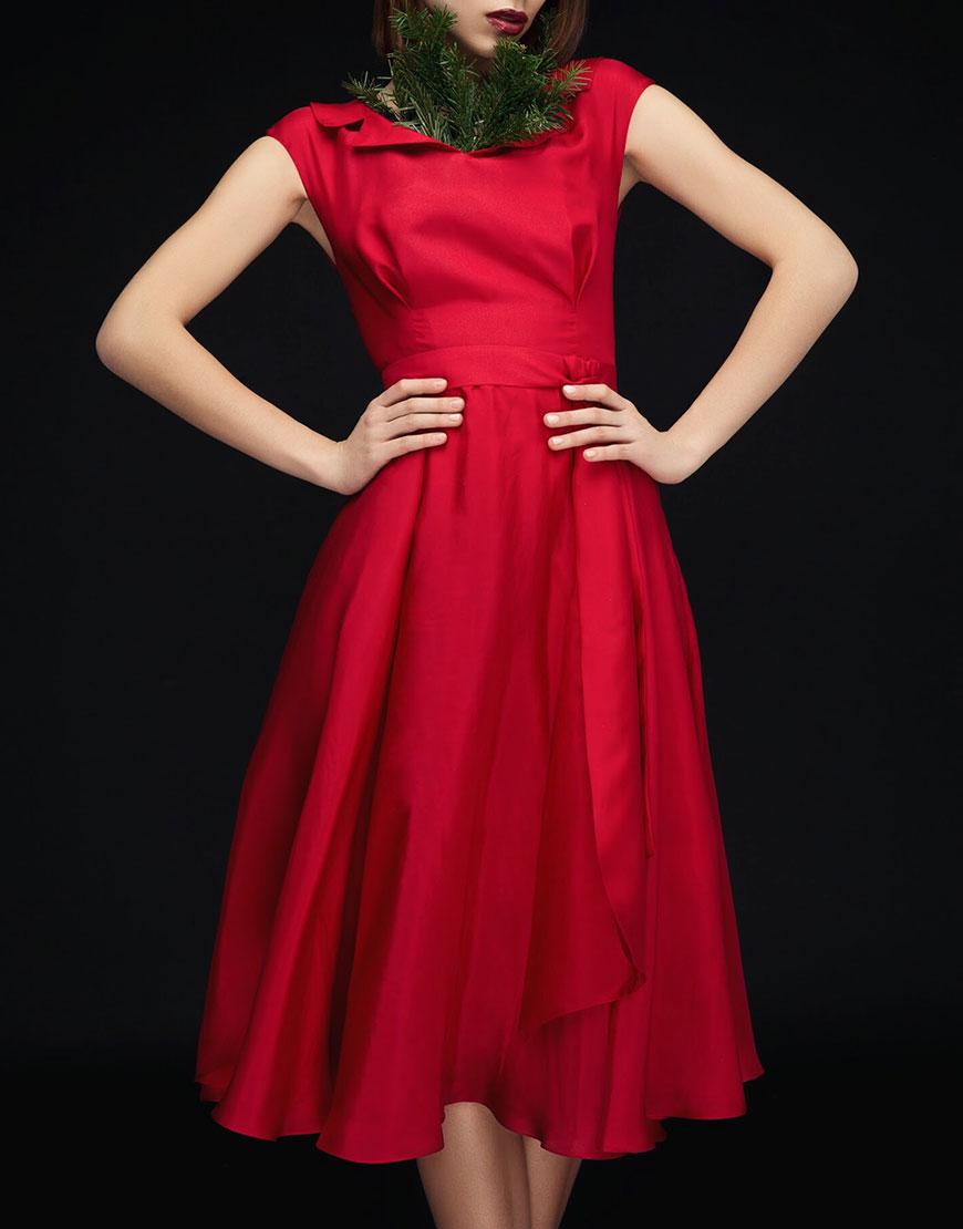 Коктейльное платье из шелка