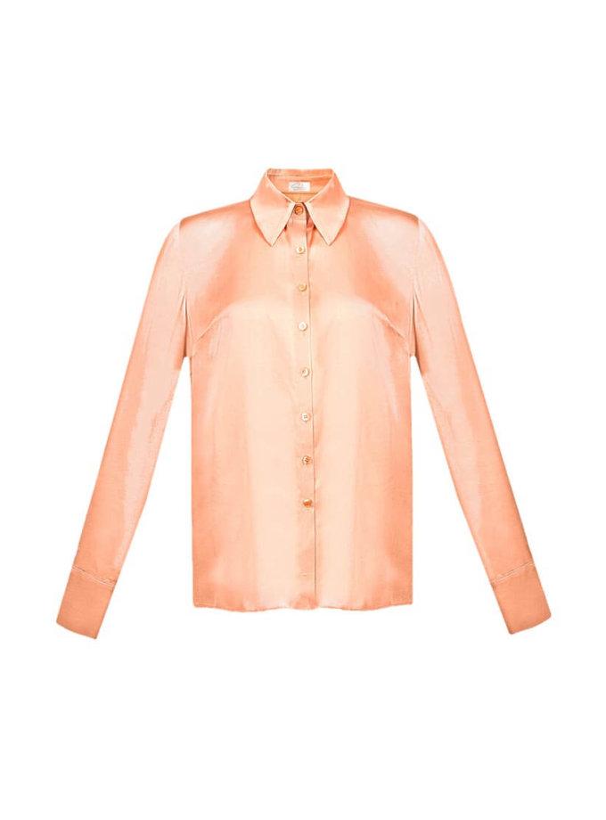 Блуза прямого кроя с пуговицами Swarovski SOL_SOW2018SH07_outlet, фото 1 - в интернет магазине KAPSULA