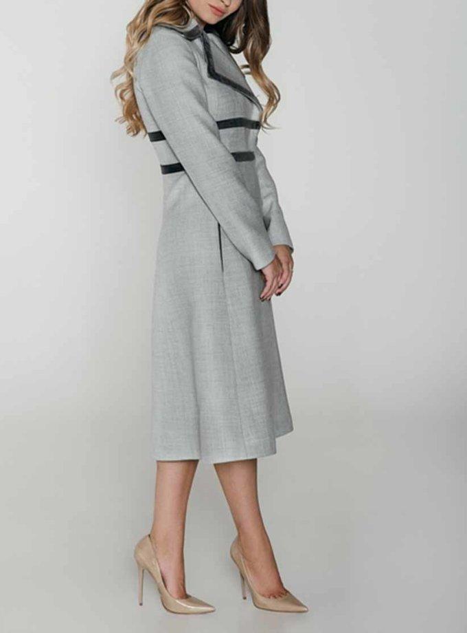 Приталенное пальто с отделкой из бархата WNDR_fw1819_cd01, фото 1 - в интеренет магазине KAPSULA