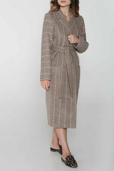 Пальто в полоску из шерсти на подкладе WNDR_fw1819_sc_04, фото 1 - в интеренет магазине KAPSULA