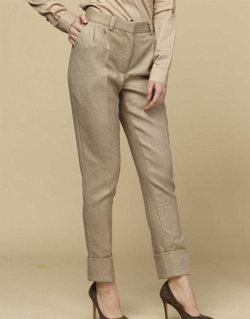 Зауженные брюки из шерсти