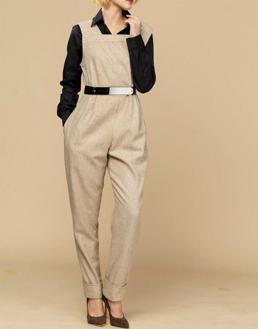 Комбинезон с зауженными брюками