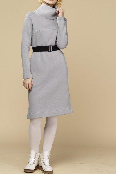 Теплое платье с начесом INS_FWSP1819_2_1, фото 1 - в интеренет магазине KAPSULA