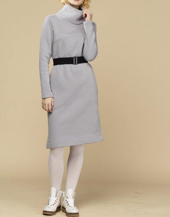 Теплое платье с начесом INS_FWSP1819_2_1, фото 3 - в интеренет магазине KAPSULA