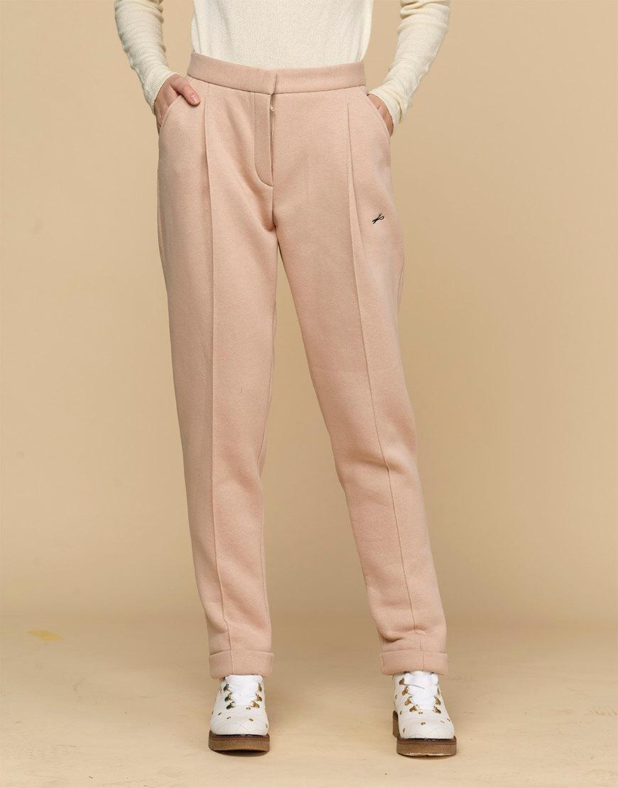 Теплые зауженные брюки с начесом