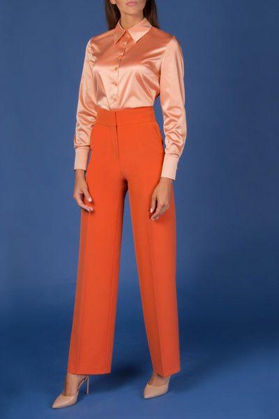 Блуза прямого кроя с пуговицами Swarovski SOL_SOW2018SH07_outlet, фото 3 - в интеренет магазине KAPSULA